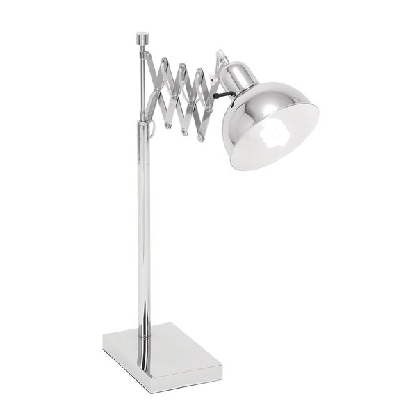 Classic Adjustable 1-light Polished Nickel Task Table Lamp
