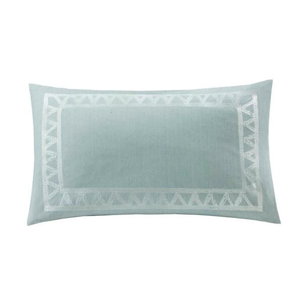 Echo Design Mykonos Cotton Embroidered Oblong Throw Pillow