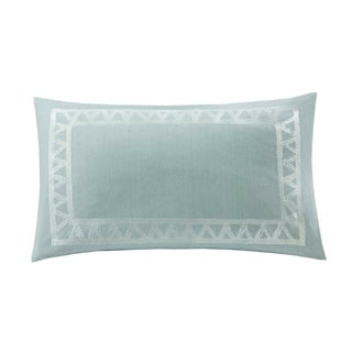Echo Design Mykonos Cotton Embroidered Oblong Throw Pillow
