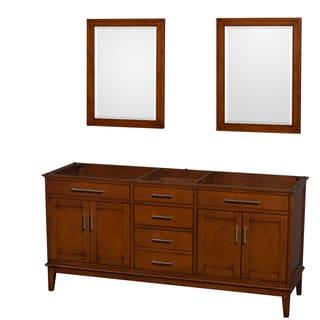 Wyndham Collection Hatton 72-inch Light Chestnut Double Vanity