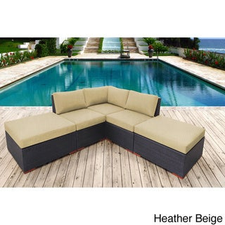 Andover 5-piece Sunbrella Fabric Corner Sectional Set