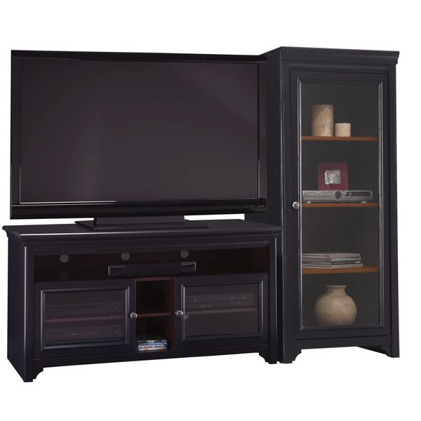 Bush Furniture Stanford Antique Black/ Hansen Cherry 60 Inch Accent TV Stand  And Audio Cabinet Set   Free Shipping Today   Overstock.com   16148000