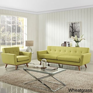 Engage 2-piece Tufted Armchair and Sofa Set
