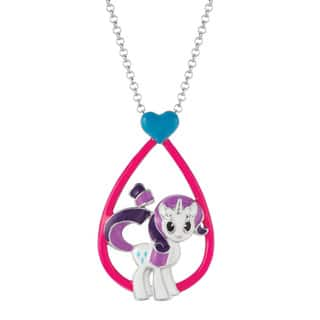 My little pony fashion jewelry store for less overstock fine silver plated rarity my little pony pendant necklace mozeypictures Images