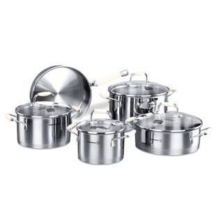 Korkmaz Flora 9-piece Encapsulated Cookware Set