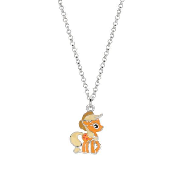 Fine Silver Plated Apple Jack My Little Pony Pendant Necklace