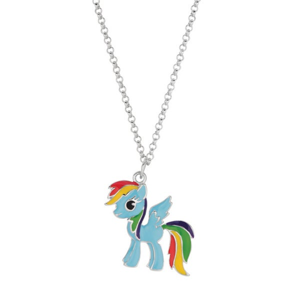 Shop fine silver plated rainbow dash my little pony pendant necklace fine silver plated rainbow dash my little pony pendant necklace aloadofball Gallery