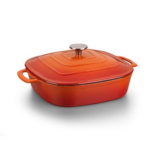 Korkmaz Casterra 4.5-quart Square Ceramic Coated Cast Iron Lidded Casserole Dish