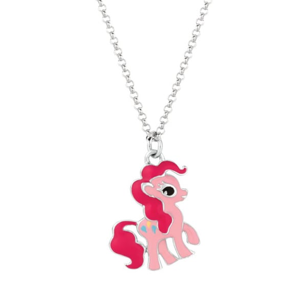 Fine silver plated pinkie pie my little pony pendant necklace fine silver plated pinkie pie my little pony pendant necklace mozeypictures Images