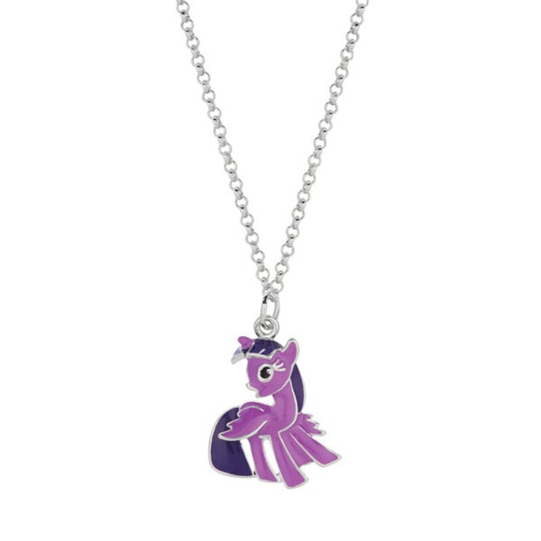 Fine Silver Plated Twighlight Sparkle My Little Pony Pendant Necklace