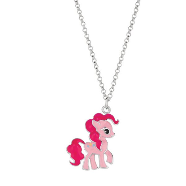 Fine Silver Plated Pinkie Pie My Little Pony Pendant Necklace