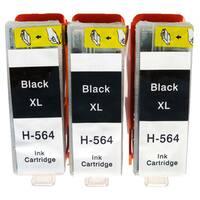 Remanufactured Set For HP 564XL CN684WN Black Ink Cartridge (Pack Of 3 : 3 XLK)