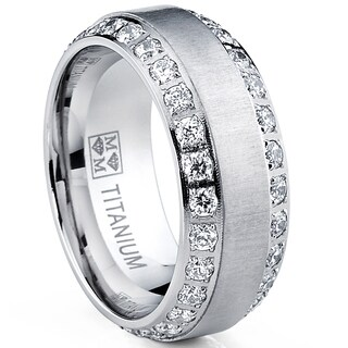 Oliveti Men's Brushed Titanium Cubic Zirconia Comfort Fit Ring|https://ak1.ostkcdn.com/images/products/8933669/P16148186.jpg?_ostk_perf_=percv&impolicy=medium