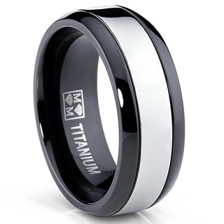 Titanium Menu0027s Wedding Bands U0026 Groom Wedding Rings   Shop The Best Deals  For Sep 2017   Overstock.com