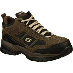 Men's Skechers Work Relaxed Fit Soft Stride Canopy Comp Toe Brown/Black