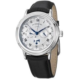 Raymond Weil Men's 2859-STC-00659 'Maestro' Silver Dial Phase De Lume Watch