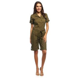 Live A Little Women's Belted Saddle Romper (Option: 14)|https://ak1.ostkcdn.com/images/products/8935114/Live-A-Little-Womens-Belted-Saddle-Romper-P16149405.jpg?impolicy=medium