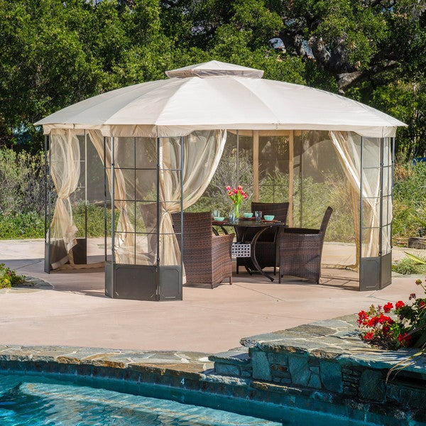 Embly Home Double Wide Gazebo Design on