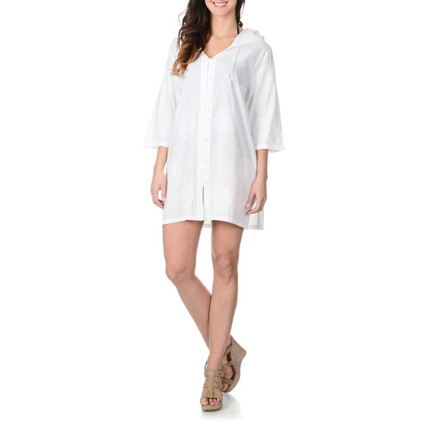 46651d640fc Shop La Cera Women's Embroidered Tunic Swim Cover Up - Free Shipping ...