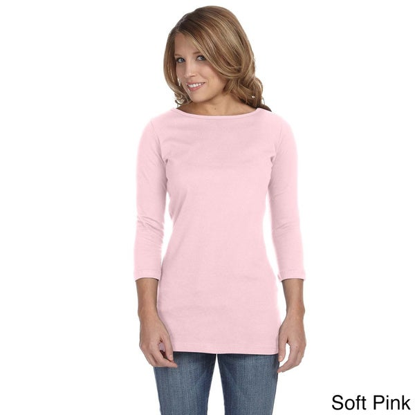 Bella Women's 'Gwen' Half Sleeve Boatneck T-shirt