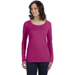 Anvil Women's Sheer Long Sleeve Scoop Neck T-shirt