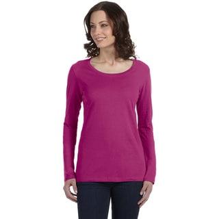 Anvil Women's Sheer Long Sleeve Scoop Neck T-shirt