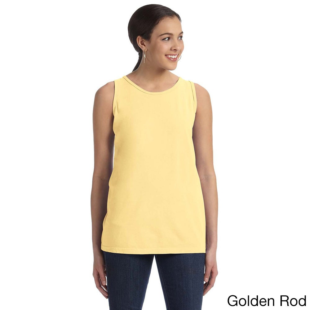 Authentic Pigment Women's Pigment-dyed Tank (S,Goldenrod)...