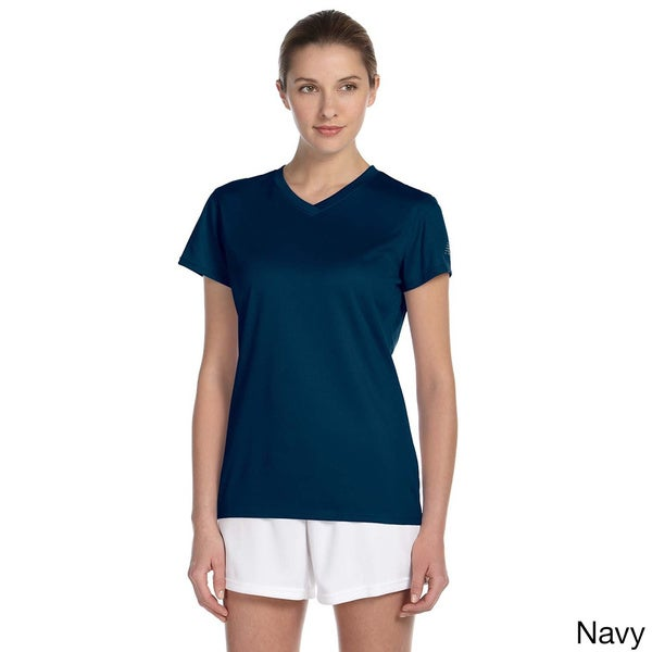 New Balance Women's Endurance Athletic V-neck T-shirt. Opens flyout.