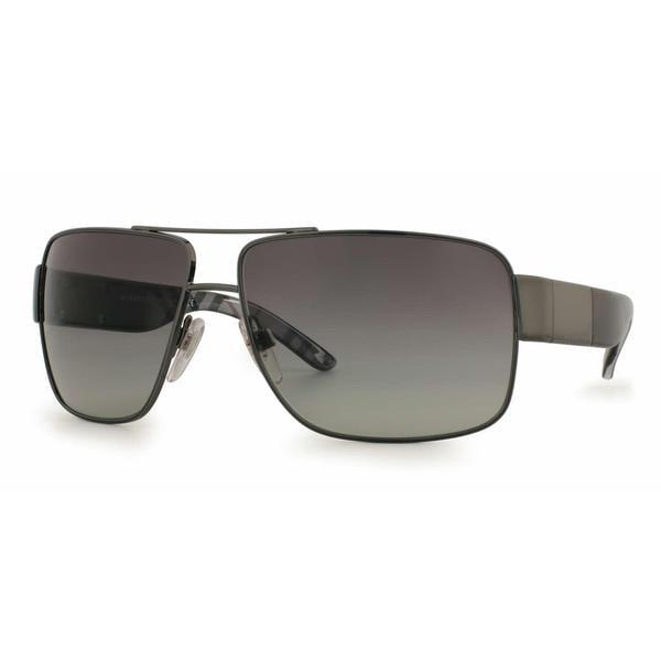 Burberry Unisex BE 3040 105711 Gunmetal Aviator Sunglasses