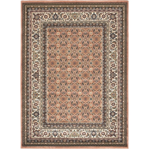 Medallion Style Copper Rug - 5'6 x 7'6