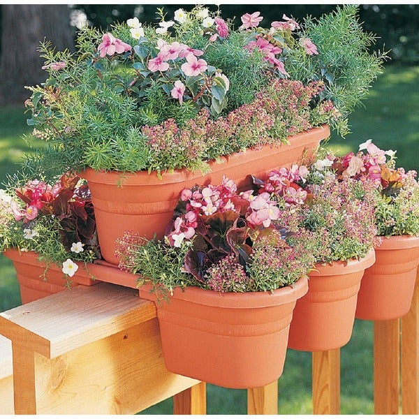 flower rail planters co rustic plans lemonaidapp wooden railing diy a deck boxes box build planter vintage