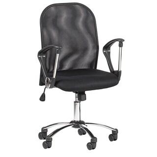 Somette Black Mesh Back Swivel Tilt Pneumatic Gas Lift Chair