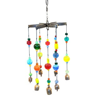 Handmade Rainbow Ring Around in Circles Wind Chime (India)