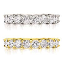 Amore 14k Gold 3ct TDW Shared Prong-set Diamond Eternity Wedding Band