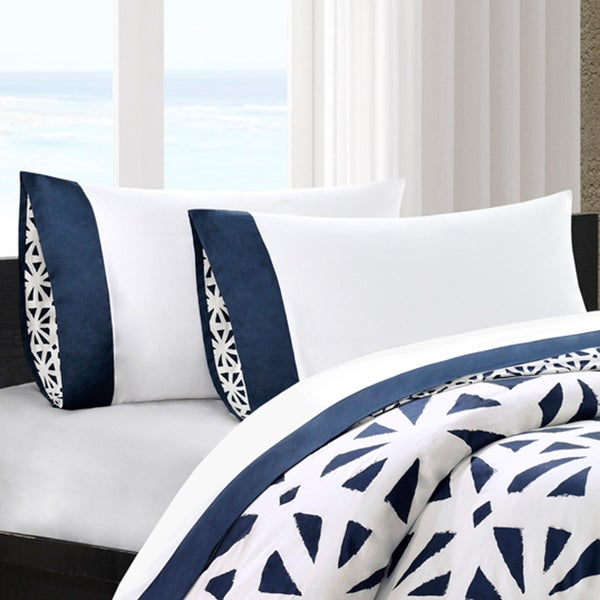 Echo Design African Sun Cotton Sheet Set with Pieced Cuff