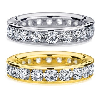 Amore 14k Gold 4ct TDW Channel-set Diamond Eternity Wedding Band