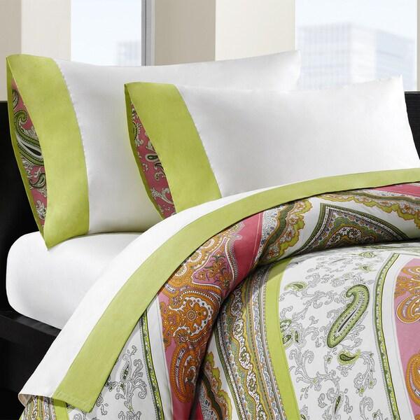 Echo Design Gramercy Paisley All Cotton Embellished Cuff Sheet Set