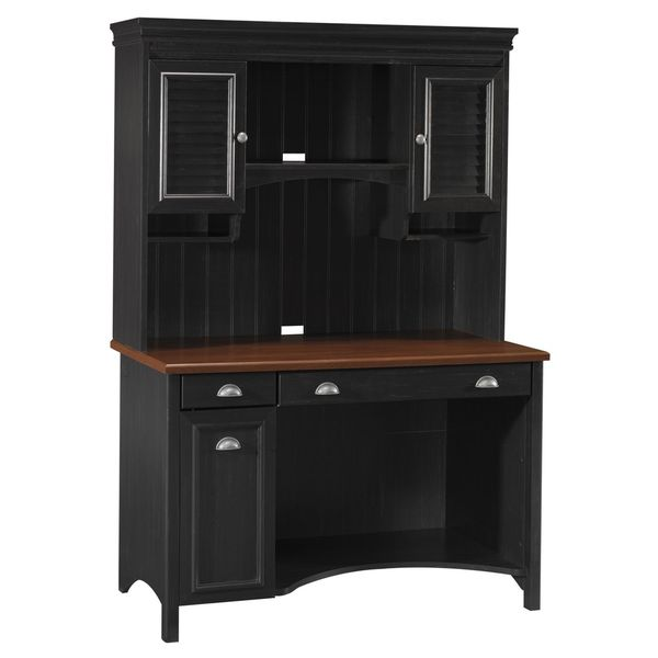 High Quality Stanford Computer Desk With Hutch   Free Shipping Today   Overstock.com    16149788