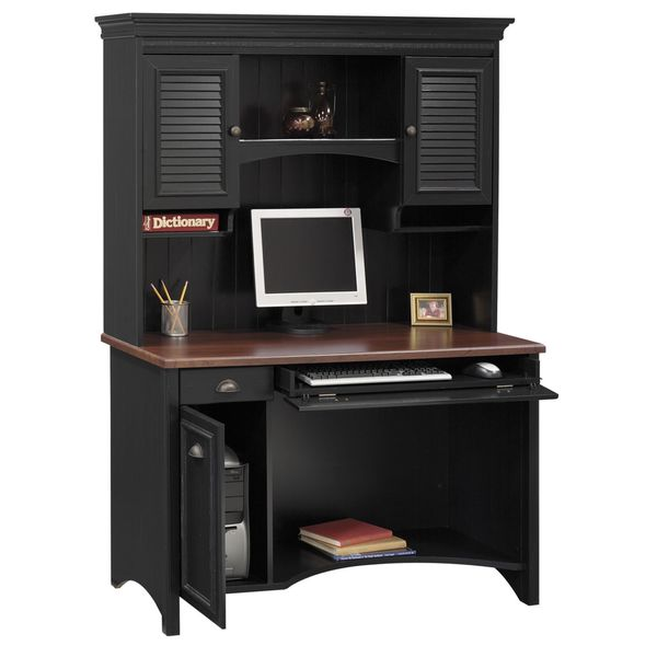 Stanford Computer Desk with Hutch - Free Shipping Today - Overstock.com -  16149788 - Stanford Computer Desk With Hutch - Free Shipping Today