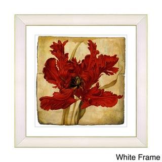 Zhee Singer 'Vintage Botanical No 021 - Antiqued' Framed Fine Art Print