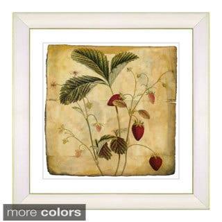 Zhee Singer 'Vintage Botanical No 06 - Antiqued' Framed Fine Art Print