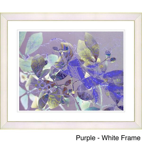 Zhee Singer 'Spring Peacock Floral' Framed Fine Art Print