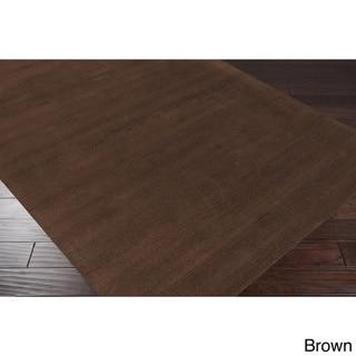 Hand-loomed Savannah Casual Wool Area Rug (Chocolate - 12 x 15)