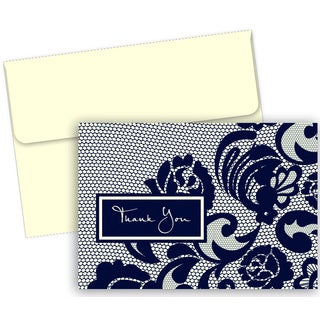 Lovely Lace Thank You Boxed Cards (50 count)