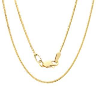 Sterling Essentials 14k Yellow Gold Diamond-cut Snake Chain Necklace (1.4 mm)