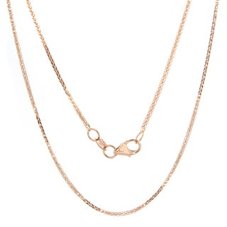 Sterling Essentials 14k Rose Gold Foxtail Chain Necklace