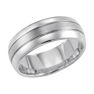 Cambridge Tungsten Carbide 3-row 8mm Comfort Fit Wedding Band (More options available)