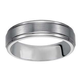 cambridge mens classic tungsten carbide 6mm comfort fit wedding band - Tungsten Mens Wedding Rings