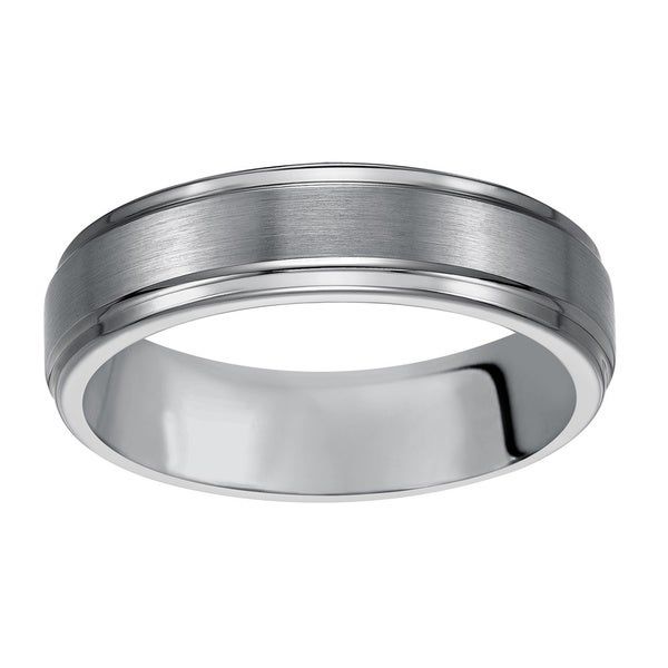 Cambridge Men S Clic Tungsten Carbide 6mm Comfort Fit Wedding Band Free Shipping Today 16149942