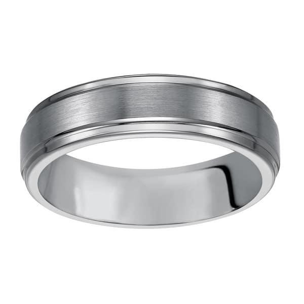 Tungsten Carbide Ring 14K Gold Wedding Band 6mm Bridal Comfort Fit Men/'s Rings